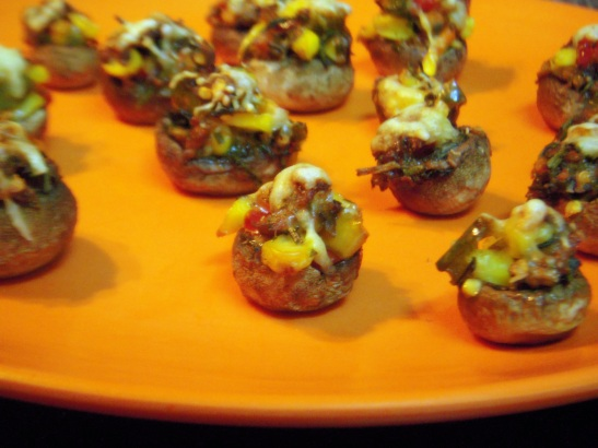 Delicious baked stuffed mushrooms